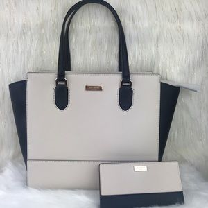 Kate Spade Hadlee Satchel and Stacy Wallet Set